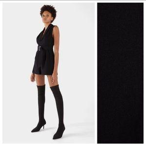 NWT. Bershka Black sock-style boots. Size 7,5.